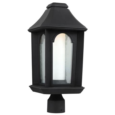 Ellerbee 1 - Light Outdoor LED Post Lantern Textured Black