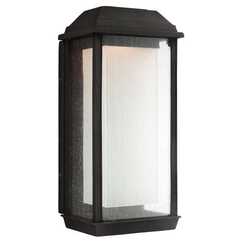 McHenry 1 - Light Outdoor LED Wall Lantern Textured Black Bulbs Inc