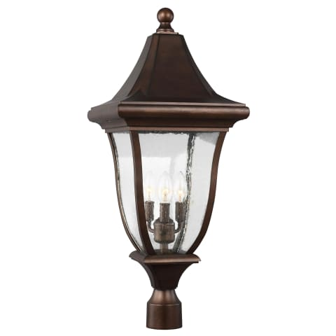 Oakmont 3 - Light Outdoor Post Lantern Patina Bronze