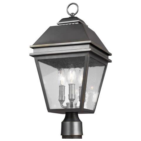 Herald 3 - Light Outdoor Post Lantern Antique Bronze