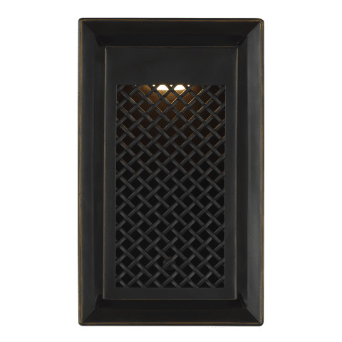 Milton 1 - Light Outdoor Wall Lantern Antique Bronze Bulbs Inc