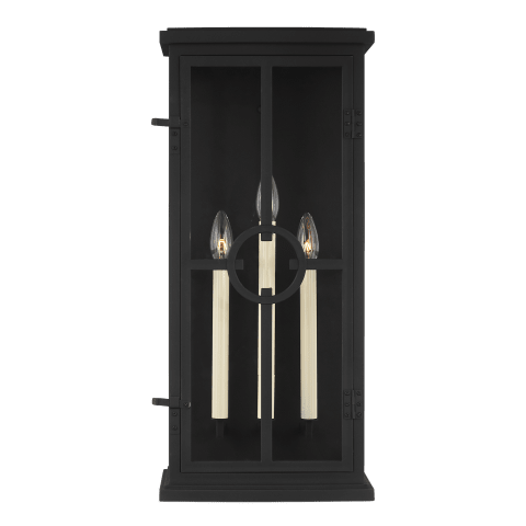 Belleville Large Lantern Textured Black