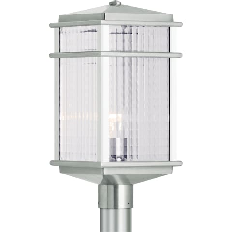 Mission Lodge Large Post Lantern Brushed Aluminum