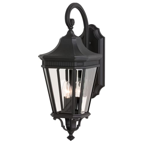 Cotswold Lane Medium Lantern Black