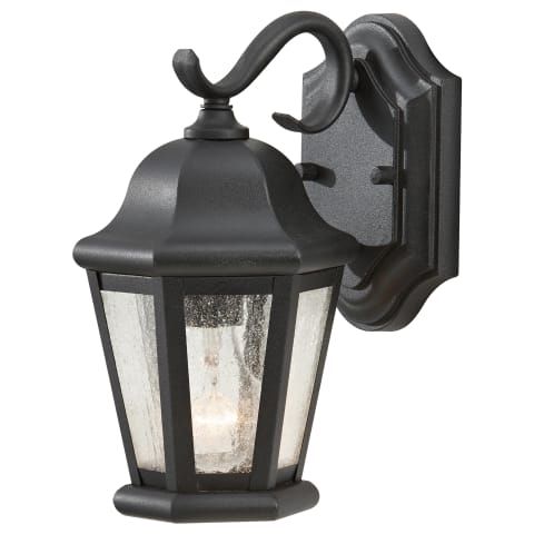 Martinsville 1-Light Outdoor Lantern Black