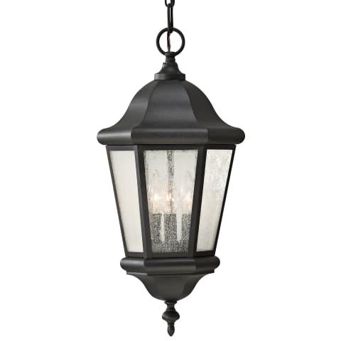 Martinsville 3-Light Outdoor Lantern Black