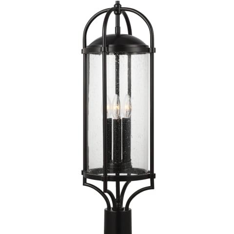 Dakota 3 - Light Post/Pier Lantern Espresso