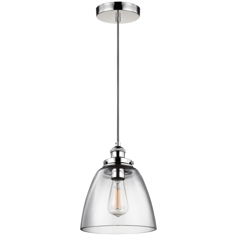 Baskin Dome Pendant Polished Nickel