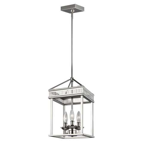 Woodruff 3 - Light Pendant Polished Nickel