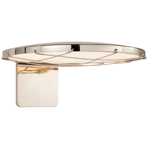 """Dot 13"""" Caged Wall Light in Polished Nickel"""