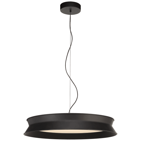 "60/40 Dot 22"" Pendant in Stone Black"