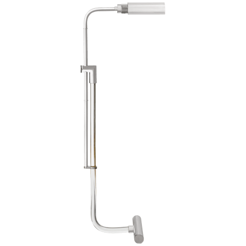 Warner Pharmacy Floor Lamp in Crystal and Polished Nickel