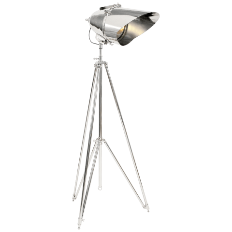 Cutter Tripod Lamp in Polished Nickel