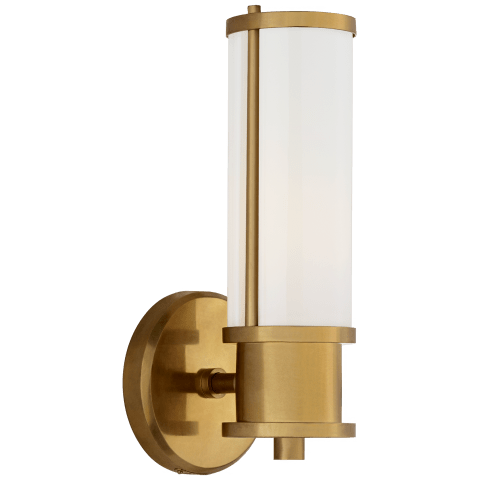 Lichfield Single Sconce in Natural Brass
