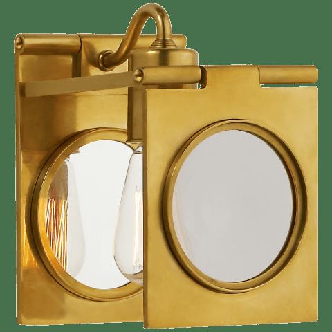 Dawes Sconce in Natural Brass