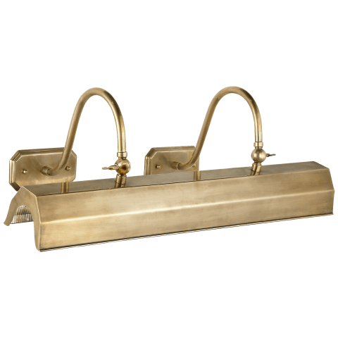 Willoughby Large Picture Light in Natural Brass