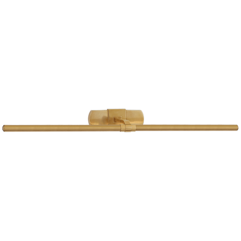 """Langley 32"""" Picture Light in Natural Brass"""