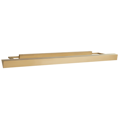 Langham Large Picture Light in Natural Brass