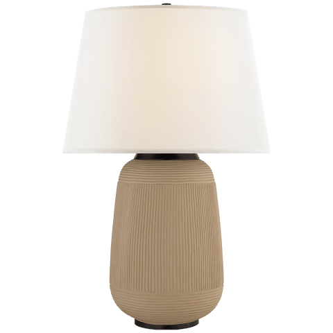 Monterey Large Table Lamp in Light Silt with Linen Shade