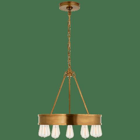 "Roark 20"" Modular Ring Chandelier in Natural Brass"
