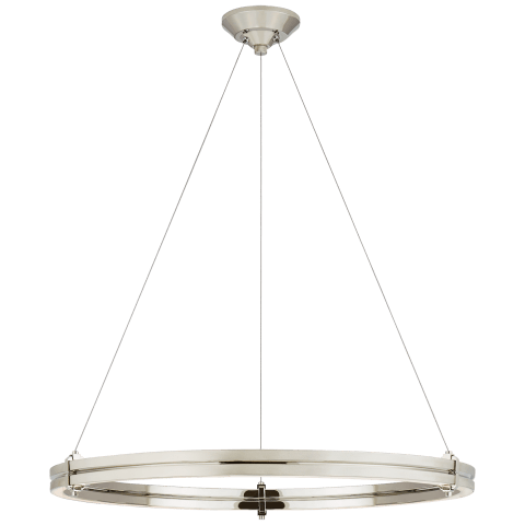 "Paxton 32"" Ring Chandelier in Polished Nickel"