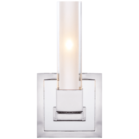 Kendal Single Sconce in Polished Nickel with Clear Glass