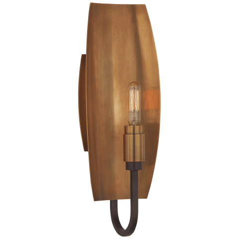 Lola Medium Reflector Sconce in Aged Iron