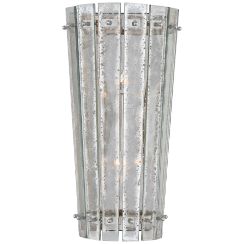Cadence Medium Sconce in Polished Nickel with Antique Mirror