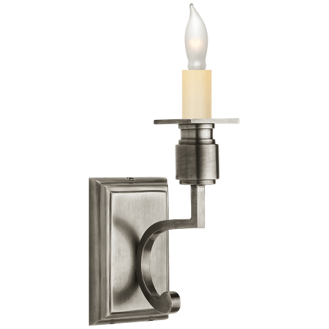 Tyler Single Sconce in Antique Silver