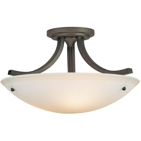 Gravity 3 - Light Indoor Semi-Flush Mount Oil Rubbed Bronze