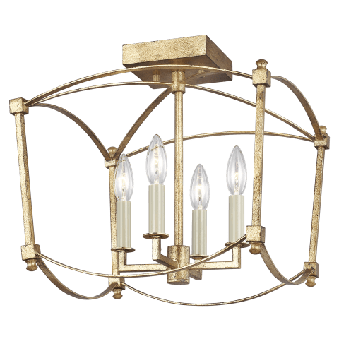 Thayer 4 - Light Semi-Flush Mount Antique Gild