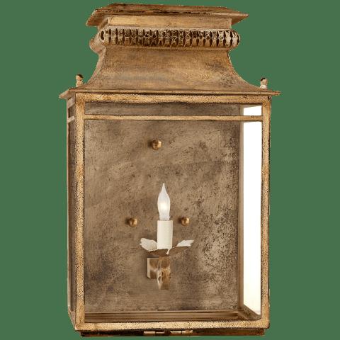 Flea Market Lantern in Gilded Iron