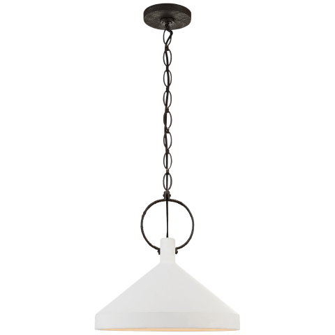 Limoges Large Pendant in Natural Rust with Aged Iron Shade