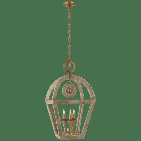 Nina Wooden Lantern in Belgian Gild