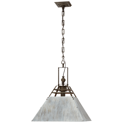 Pierre Medium Pendant in Vintage Steel and Oxidized Gray