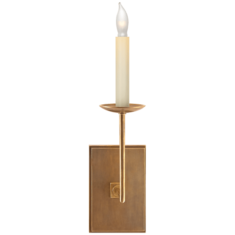 Right Angle Single Sconce in Hand-Rubbed Antique Brass