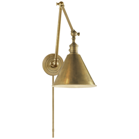 Boston Functional Double Arm Library Light in Bronze