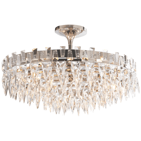 Trillion Large Flush Mount in Polished Nickel