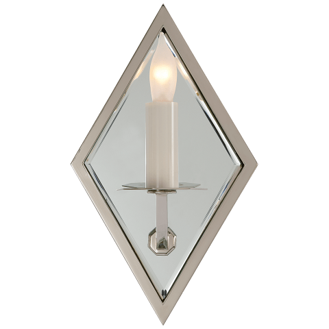 Jenna Mirrored Sconce in Polished Nickel