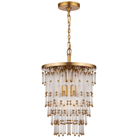 Mia Small Chandelier in Clear Glass