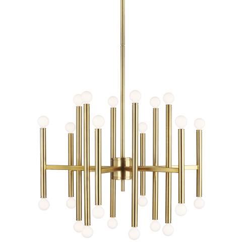 Beckham Modern 24 - Light Chandelier Burnished Brass
