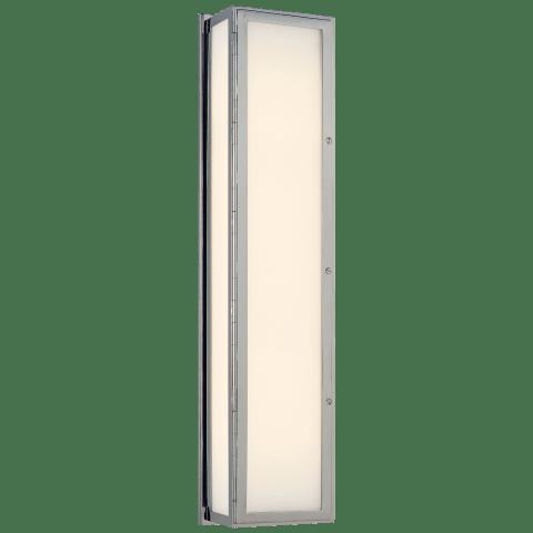 Mercer Long Box Light in Chrome with White Glass