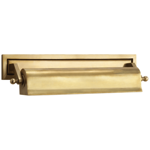 """Library 16"""" Picture Light in Hand-Rubbed Antique Brass"""
