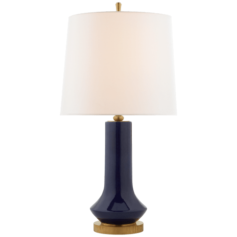 Luisa Large Table Lamp in Denim with Linen Shade