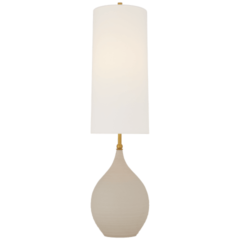 Loren Large Table Lamp in Natural Shell with Linen Shade