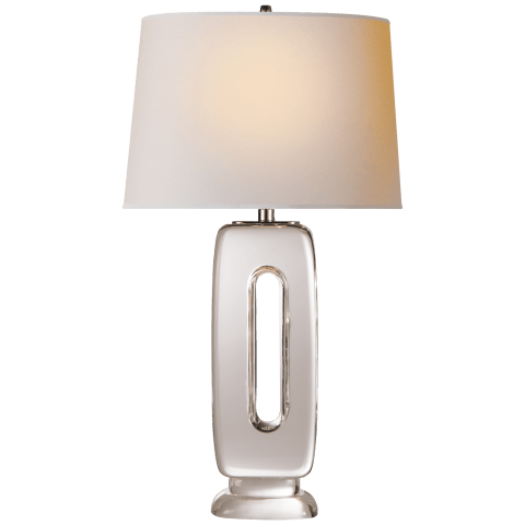 Demi Table Lamp in Crystal with Natural Paper Shade