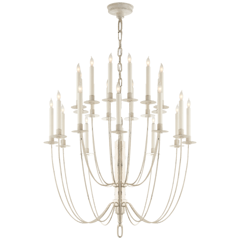 Erika Two-Tier Chandelier in Belgian White
