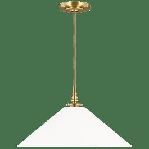 Capri 1 - Light Pendant Burnished Brass