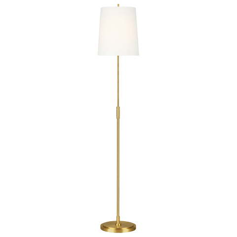 Beckham Classic Floor Lamp Burnished Brass Bulbs Inc