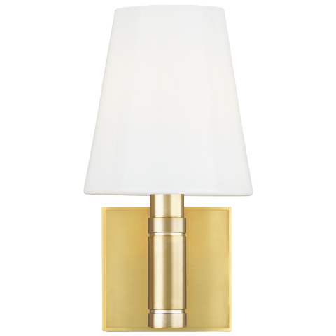 Beckham Classic Square Sconce Burnished Brass
